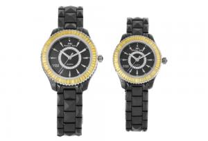 China Custom Made Japanese Quartz Watch, Lovers Couple Wristwatches, Diamond Ceramic Watches on sale