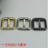 China Bag Parts Accessories Zinc Alloy Shiny Gold 25 MM Roll Pin Belt Buckle For Sales on sale