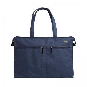 China Blue Messenger Padded Laptop Bag , Briefcase Computer Bag Solid Hand Hold Belt on sale