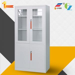 China Latest  design cabinet with Glass & metal Door , 4 adjustable shelves, FYD-W016 H1850xW900xD400MM, Knock Down Structure on sale