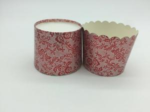 China Red Printing Laser Cut Cupcake Wrappers Disposable Baking Cups Muffin Tray on sale