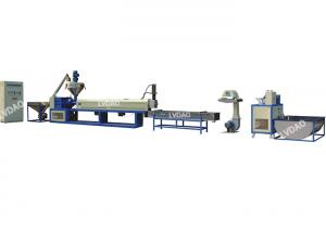 China Power 45kw PP CE Caco3 pelleting extruder line LDB SJP 120 plastic recycling equipment 240-400kg/h on sale