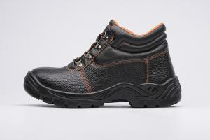 China hot sale and basic workwear safety work shoes 8055 split leather upper pu outsole on sale