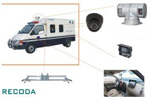 China 1/3 Sony CCD 360 Degree Rotation Armed Escort Vehicle Security Camera System on sale