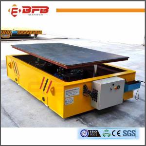 China Platform Structure Large Capacity Battery Powered Rail Lifting Trailer on sale
