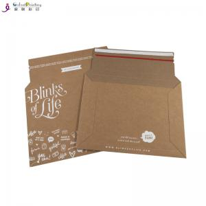 China Custom Tear Strip Cardboard Kraft Mailer Envelope Printing Services with Self Adhesive on sale