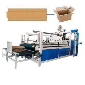 China 40pcs/Min Semi Auto Carton Folding And Gluing Machine on sale