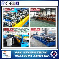 China Metal Sheet Steel Floor Decking Roll Forming Machinery 45# Steel Shaft Material on sale