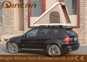 China Triangle Hard Shell Fiberglass Automatic Roof Top Tent , Roof Rack Pop Up Tent on sale