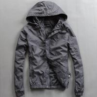China Lightweight Nylon Waterproof Men'S Windbreaker Jacket Black Or Custom Color on sale