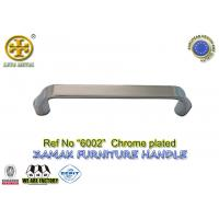 China Spec 96/128mm  No 6002 zinc cabinet handle metal  furniture hardware color chrome plated on sale