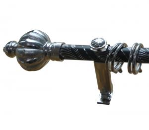 China Metal Pipe Curtain Rods With Double / Adjustable Bracket on sale