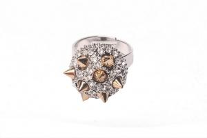 China Fashion jewelry wholesalers Crystal Rings Crystal costume rings CR0018 on sale