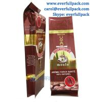 China hot selling vivid printing coffee packing bag/ resealable aluminum foil drip quad seal bag coffee bag on sale