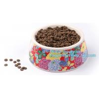 Lovely Personalized portable pet dog food water bowl ceramic plastic, Plastic pet bowl /PP pet dish for dog /food pail f