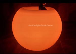 China Ball Shaped Led Light Up Coffee TableWith Ice Bucket And Wine Bottle Holder on sale