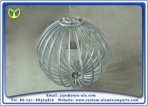 China 6063T5 Aluminium Extruded Profiles Lantern Support Frame Silver Anodized 1.8m Diameter on sale