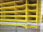 Yellow Double Edge Welded Mesh Fence Simple Structure 2.5mL*1.8mH / 2.0mL*1.8mH