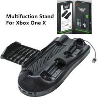 5 in 1 Multifunction Cooling Fan Vertical Stand Controller Charger Station Disc Storage USB Hub for Xbox One X