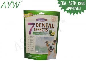 China Vivid Printing Pet Food Bag 160g For Avocado Dental Stick Packaging on sale