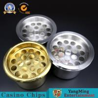 China Water Holder Casino Game Accessories Baccarat Texas Poker Customize Clay Iron ABS Roulette Table Cup on sale