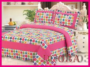 China plaid patchwork bedding sets Patchwork 100%Cotton Quilt Bed Setting 3PCS & 4PCS on sale
