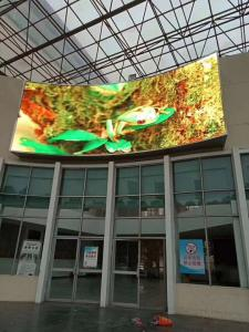 China Outdoor Led Advertising Screen 5500cd/m2 Brightness Aluminum Cabinet on sale