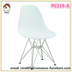 China back and seat with ABS,wood and steel legs.plastic chair PC119-A on sale