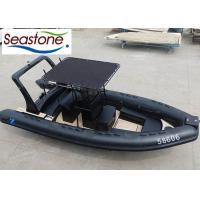 China Orca Material Teak Floor Rigid Hull Inflatable Boat Lightweight Inflatable Tenders 22 Foot UV Stable on sale