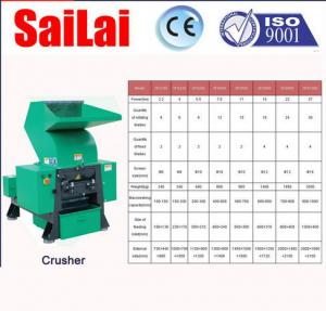China Industrial Plastic Crusher Machine Strong Breaking Capacity 200 - 300kg / H on sale