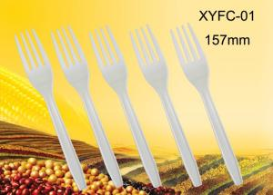 China 100%biodegradable high quality disposable plastic fork:XYFC-01 on sale