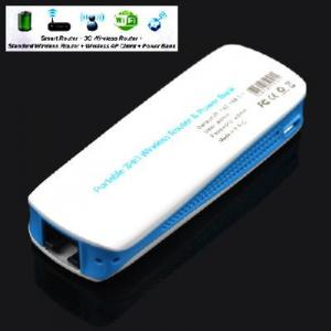 China Portable 3G Wifi Router 150M & Mobile Power Bank 1800mAh on sale