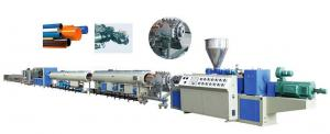 China 50HZ Double Screw Flexible Pvc Pipe Manufacturing Plant / Plastic Pipe Extrusion Machine on sale