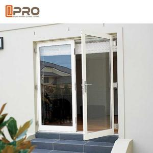 China Interior Aluminium Hinged Doors With Double Low E Glass For Residential House on sale