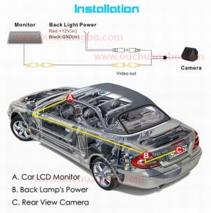 China Ouchuangbo HD Car Rear View CCD Night Vision for Toyota Land Cruiser Prado 2010 OCB-T6918 on sale