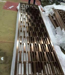 China la tubería de acero inoxidable 201 soldó con autógena el divisor de la pantalla del precio al por mayor de la fábrica de Foshan de los paneles de pared on sale