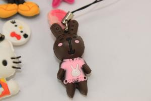 China Silica Gel 3D Cartoon Design Cell Phone Ornaments Accessories in Stereoscopic Effect on sale