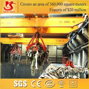 China QZ model workshop grab bucket overhead crane on sale