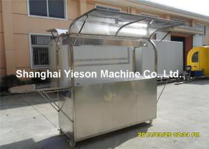 Quality ISO9001 Stainless Steel Coffee Cart Mobile Food Kiosk For Sale