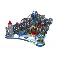 China Naughty Castle Indoor Playground Equipment Commercial Kai Qi Playground With Large Slides on sale