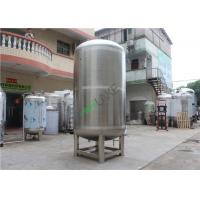 China SS304 Stainless Steel Filter Housing / Cosmetic Cream Vacuum Emulsifying Tank on sale