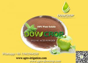 China DOWCROP     HIGH    QUALITY    100%   WATER    SOLUBLE   FULVIC  ACID  BROWN  POWDER   / LIQUID    WITHOUT      CL on sale