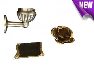 Quality Ref Number BD007 Brass Decoration Material Copper Alloy Tombstone Accessory for sale
