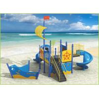 PE plastic coated light blue ship type outdoor playground for kids KQ60104D