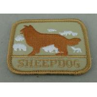 Eco Friendly Custom Embroidery Patches with Polyester yarn / Cotton Yarn metallic thread