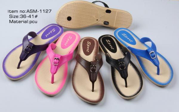 c51b254e37385 Fashion women PCU Flip Flops new colloection of flat heel ladies slippers  ASM Images