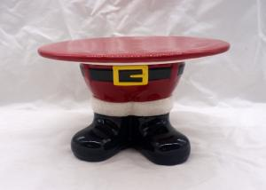 China Santa Feet Shoes Christmas Cake Stand For Holiday Christmas Decoration on sale