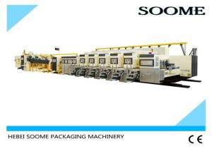 China Rotary Flexo Printer Slotter Die Cutter , Fully Automatic Printer Slotter Corrugated  Machine on sale