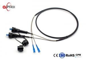 China IP68 Black Fiber Optic Cable Connectors , ABS ODVA SC Fiber Optic Connector on sale