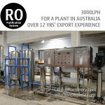 3TPH Australia Ordered Commercial RO Water Reverse Osmosis System